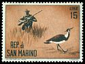 Cl: Northern Lapwing (Vanellus vanellus) SG 684 (1962) 15 [3/47]
