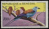 Cl: Abyssinian Roller (Coracias abyssinica) <<Rollier>>  SG 235 (1960) 100 [2/4]
