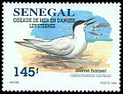 Cl: Gull-billed Tern (Sterna nilotica) <<Sterne hansel>>  SG 1392 (1995)