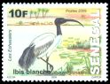 Cl: Sacred Ibis (Threskiornis aethiopicus) <<Ibis blanche>> (I do not have this stamp)  SG 1813a (2010)  [7/14]
