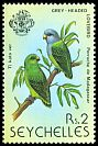 Cl: Grey-headed Lovebird (Agapornis canus) <<Ti kato ver>> (Introduced)  SG 445 (1979) 50