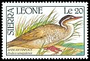 Cl: African Finfoot (Podica senegalensis) SG 1479 (1990)