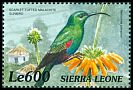Cl: Red-tufted Sunbird (Nectarinia johnstoni)(Out of range)  SG 3106 (1999)