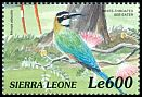Cl: White-throated Bee-eater (Merops albicollis)(Repeat for this country)  SG 3118 (1999)