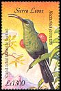 Cl: Red-tufted Sunbird (Nectarinia johnstoni)(Out of range)  SG 4100c (2003)
