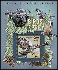 Cl: African Harrier-Hawk (Polyboroides typus)(I do not have this stamp)  new (2015)