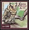 Cl: Fraser's Eagle-Owl (Bubo poensis)(I do not have this stamp)  new (2015)