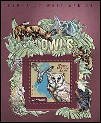 Cl: Verreaux's Eagle-Owl (Bubo lacteus)(I do not have this stamp)  new (2015)