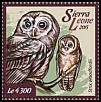 Cl: African Wood-Owl (Strix woodfordii)(Repeat for this country) (I do not have this stamp)  new (2015)