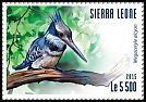 Cl: Belted Kingfisher (Ceryle alcyon)(Out of range) (I do not have this stamp)  new (2015)