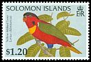 Cl: Yellow-bibbed Lory (Lorius chlorocercus)(Endemic or near-endemic)  SG 852 (1996) 90