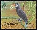 Cl: Blyth's Hornbill (Aceros plicatus)(Endemic or near-endemic)  SG 978 (2001) 35