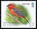 Cl: Red Fody (Foudia madagascariensis)(Repeat for this country)  SG 1245 (2015)  [10/16]