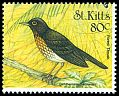 Cl: Forest Thrush (Cichlherminia lherminieri)(Out of range)  SG 537 (1999)