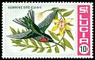 Cl: Purple-throated Carib (Eulampis jugularis)(Repeat for this country)  SG 256 (1969)