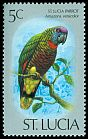 Cl: St. Lucia Parrot (Amazona versicolor)(Endemic or near-endemic)  SG 418 (1976) 60