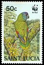 Cl: St. Lucia Parrot (Amazona versicolor)(Endemic or near-endemic)  SG 971 (1987) 20