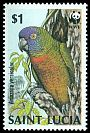 Cl: St. Lucia Parrot (Amazona versicolor)(Endemic or near-endemic)  SG 972 (1987) 45