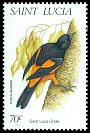 Cl: St. Lucia Oriole (Icterus laudabilis)(Endemic or near-endemic)  SG 1182 (1998)