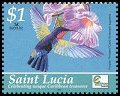 Cl: Purple-throated Carib (Eulampis jugularis)(Repeat for this country)  SG 1304 (2004)  [3/6]