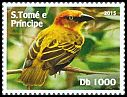 Cl: Principe Golden-Weaver (Ploceus princeps)(Endemic or near-endemic) (I do not have this stamp)  new (2015)