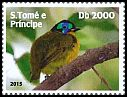 Cl: Schlegel's Asity (Philepitta schlegeli)(Out of range and no other stamp) (I do not have this stamp)  new (2015)