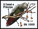 Cl: Grey Parrot (Psittacus erithacus)(Repeat for this country) (I do not have this stamp)  new (2015)
