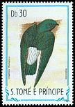 Cl: Sao Tome Spinetail (Zoonavena thomensis) <<Andorinha>> (not catalogued)  (1983)