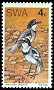 Cl: White-tailed Shrike (Lanioturdus torquatus) SG 260 (1974) 200