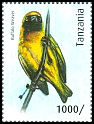 Cl: Lesser Masked-Weaver (Ploceus intermedius)(Repeat for this country) (I do not have this stamp)  new (2012)  [8/15]