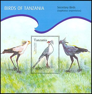 Cl: Secretarybird (Sagittarius serpentarius)(Repeat for this country) (I do not have this stamp)  new (2012)  [8/15]