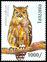Cl: Verreaux's Eagle-Owl (Bubo lacteus)(I do not have this stamp)  new (2012)  [8/15]