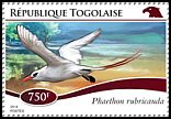 Cl: Red-tailed Tropicbird (Phaethon rubricauda)(Out of range) (I do not have this stamp)  new (2014)