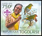 Cl: Green-backed Twinspot (Mandingoa nitidula)(I do not have this stamp)  new (2012)  [8/4]