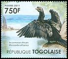 Cl: Long-tailed Cormorant (Phalacrocorax africanus)(I do not have this stamp)  new (2011)  [7/35]