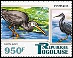 Cl: Western Reef-Heron (Egretta gularis)(I do not have this stamp)  new (2015)