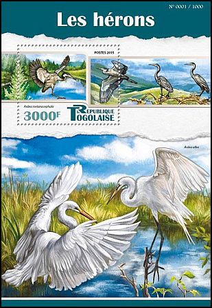 Cl: Black-headed Heron (Ardea melanocephala)(I do not have this stamp)  new (2015)