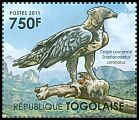 Cl: Crowned Hawk-Eagle (Stephanoaetus coronatus)(I do not have this stamp)  new (2011)  [7/42]