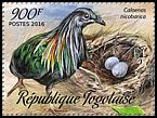 Cl: Nicobar Pigeon (Caloenas nicobarica)(Out of range) (I do not have this stamp)  new (2016)