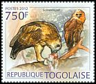 Cl: Pel's Fishing-Owl (Scotopelia peli)(Repeat for this country) (I do not have this stamp)  new (2012)  [7/58]