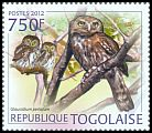 Cl: Pearl-spotted Owlet (Glaucidium perlatum)(Repeat for this country) (I do not have this stamp)  new (2012)  [7/58]