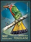 Cl: Red-bearded Bee-eater (Nyctyornis amictus)(Out of range and no other stamp) (I do not have this stamp)  new (2015)
