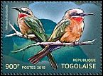 Cl: White-fronted Bee-eater (Merops bullockoides)(Out of range) (I do not have this stamp)  new (2015)