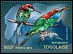 Cl: Blue-throated Bee-eater (Merops viridis)(Out of range) (I do not have this stamp)  new (2015)