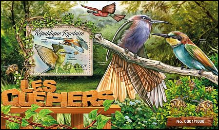 Cl: Blue-tailed Bee-eater (Merops philippinus)(Out of range) (I do not have this stamp)  new (2016)