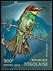 Cl: European Bee-eater (Merops apiaster)(I do not have this stamp)  new (2015)