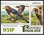Cl: Yellow-billed Barbet (Trachyphonus purpuratus)(I do not have this stamp)  new (2015)