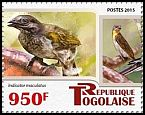 Cl: Spotted Honeyguide (Indicator maculatus)(I do not have this stamp)  new (2015)