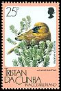 Cl: Wilkins' Finch (Nesospiza wilkinsi)(Endemic or near-endemic)  SG 420 (1986) 80