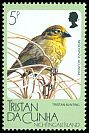 Cl: Nightingale Finch (Nesospiza acunhae)(Endemic or near-endemic)  SG 443 (1988) 50
